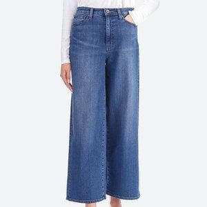 Uniqlo Jeans High Rise Wide Straight Leg - Size 32